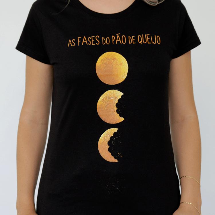 Camiseta Feminina As Fases do Pão de Queijo - M