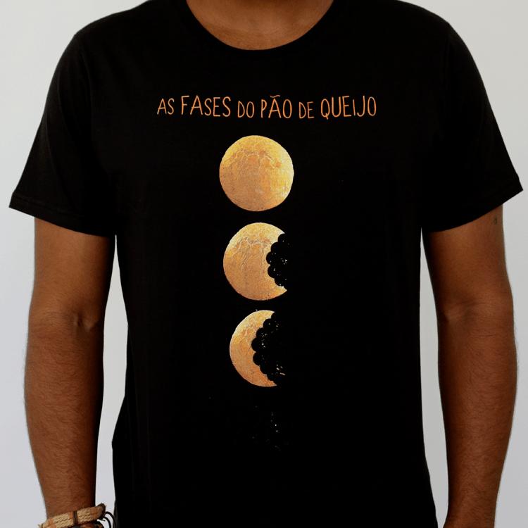 Camiseta Masculina As Fases do Pão de Queijo - G