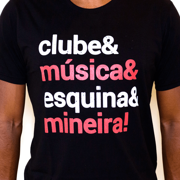 Camiseta Masculina Clube & Música & Esquina & Mineira! - M