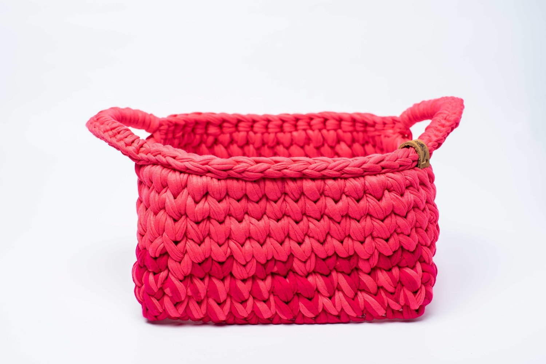 Cesto Quadrado com Fundo em Acrílico Rosa Pink - Janbolé