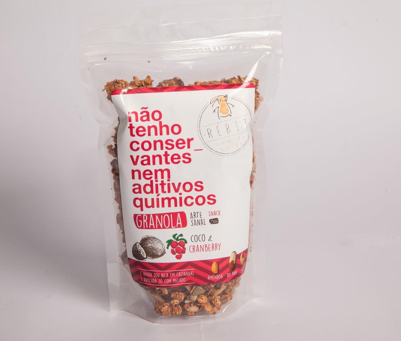 Granola Artesanal - Coco e Cranberry