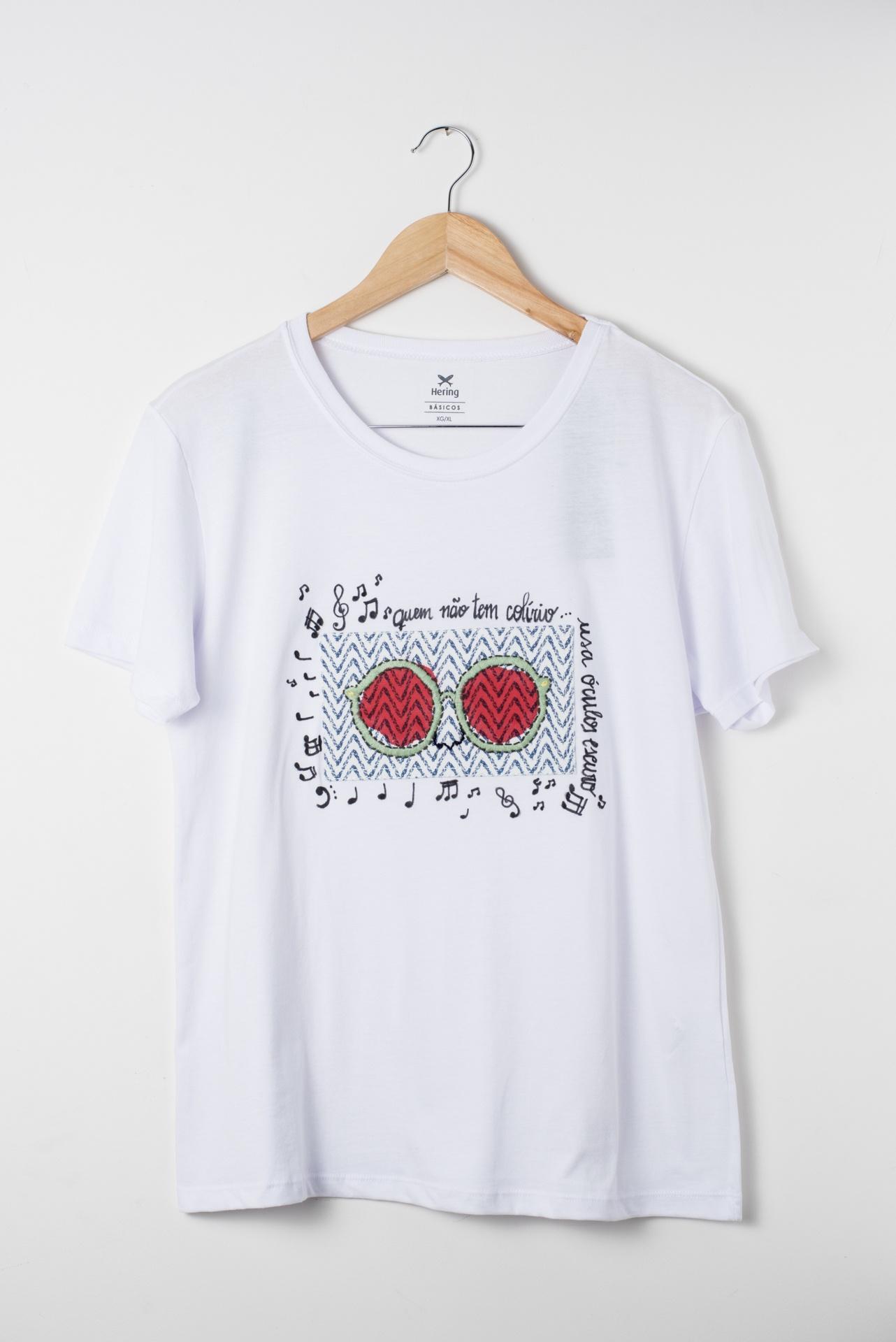 Camiseta bordada Eu uso óculos escuros 1 - Delicates