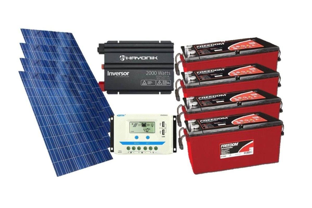 Kit Gerador De Energia Solar 600wp - Gera Até 1740wh/dia