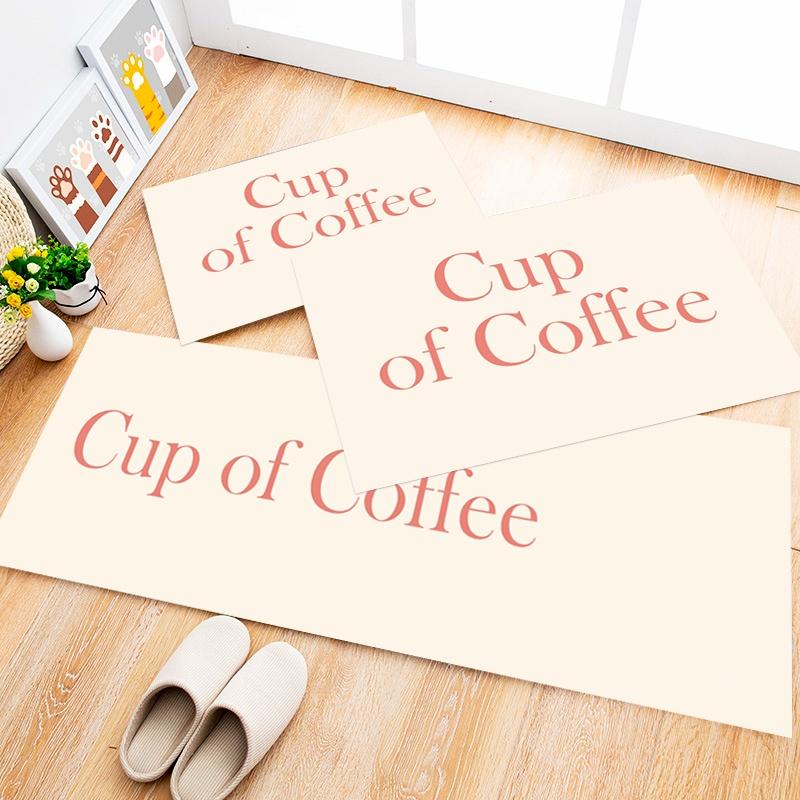 Tapete Cozinha Coffee Cup, 3 pçs - 40x120cm