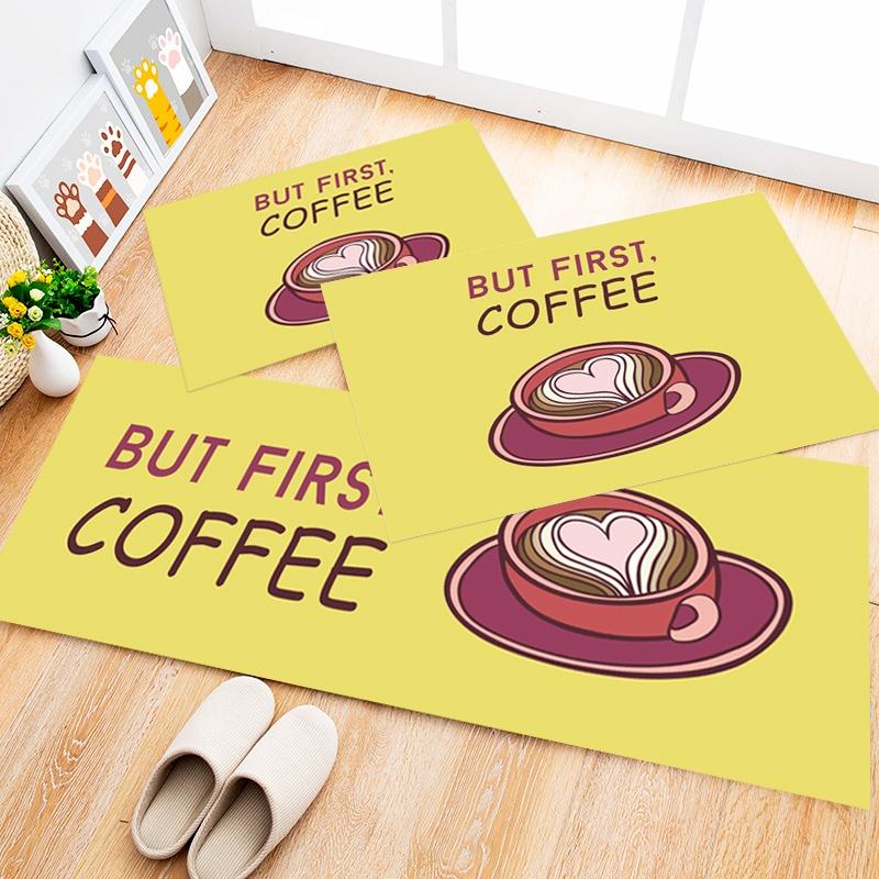 Tapete Cozinha Coffee Yellow, 3 pçs - 40x120cm