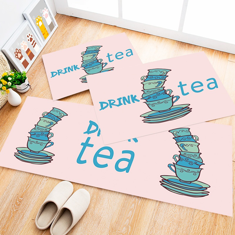 Tapete Cozinha Drink Tea, 3 pçs - 40x120cm