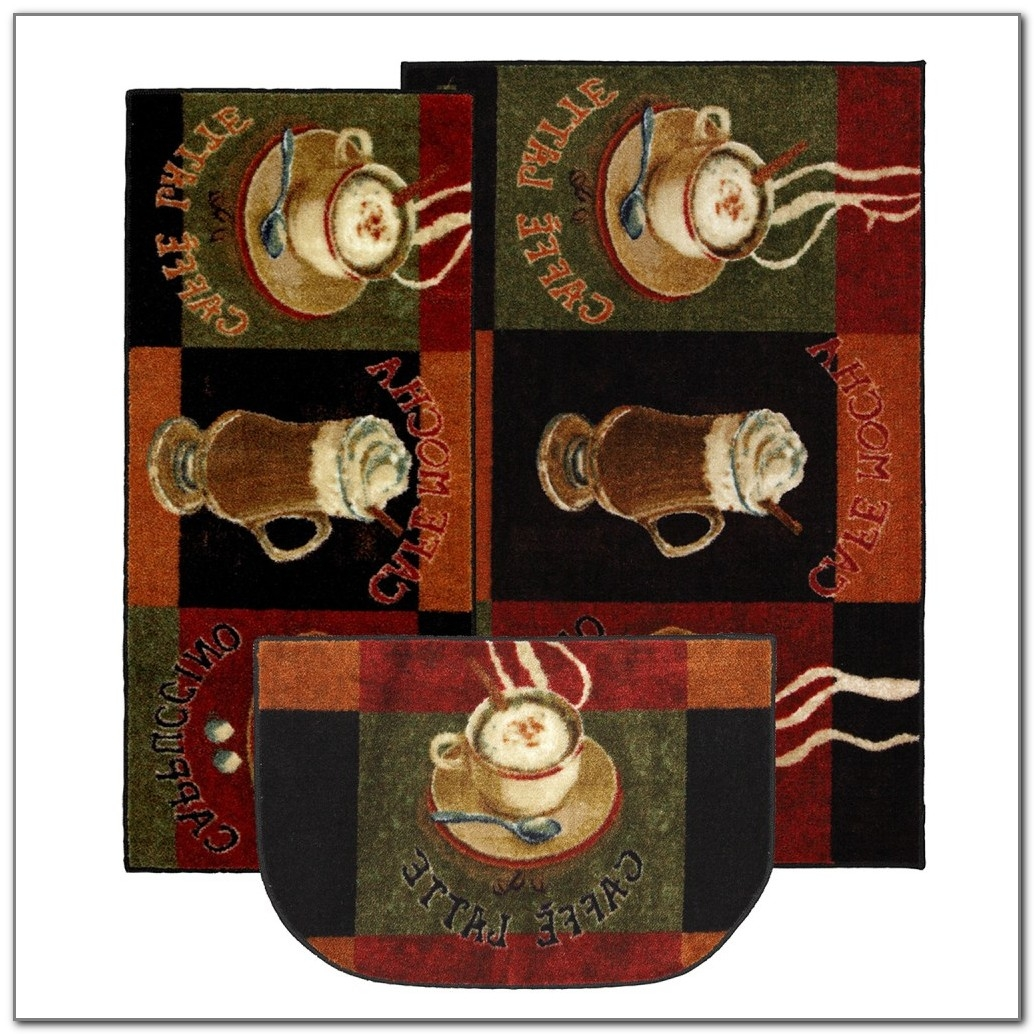 4 Piece Kitchen Rug Sets