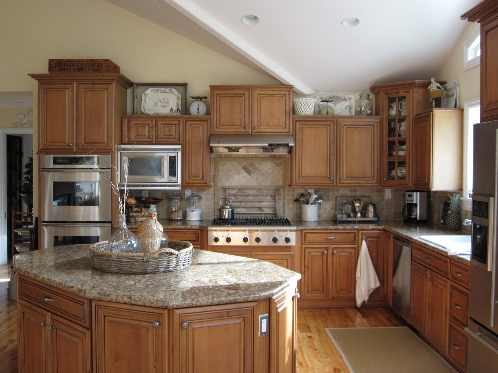 Decorating Above Kitchen Cabinets With High Ceilings