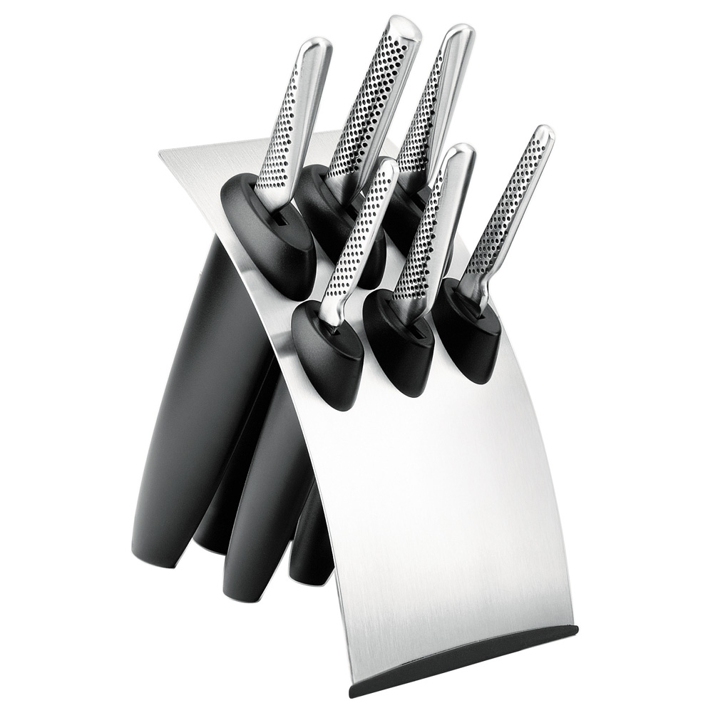 Global 4 Piece Kitchen Knife Set With Block