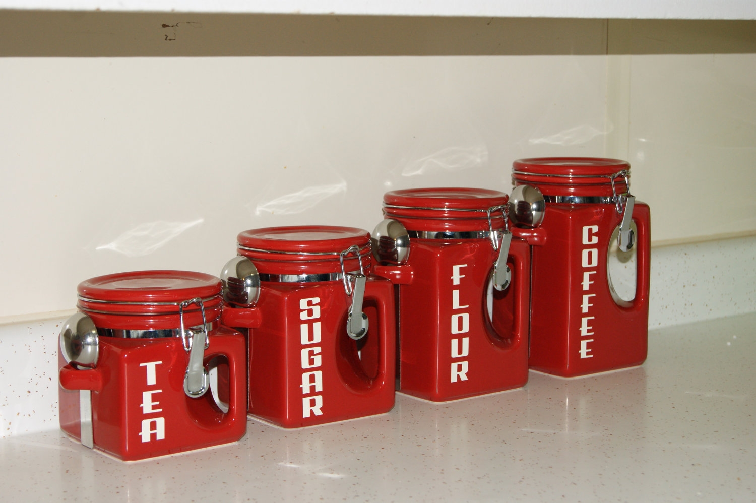 Red Canister Sets For Kitchen