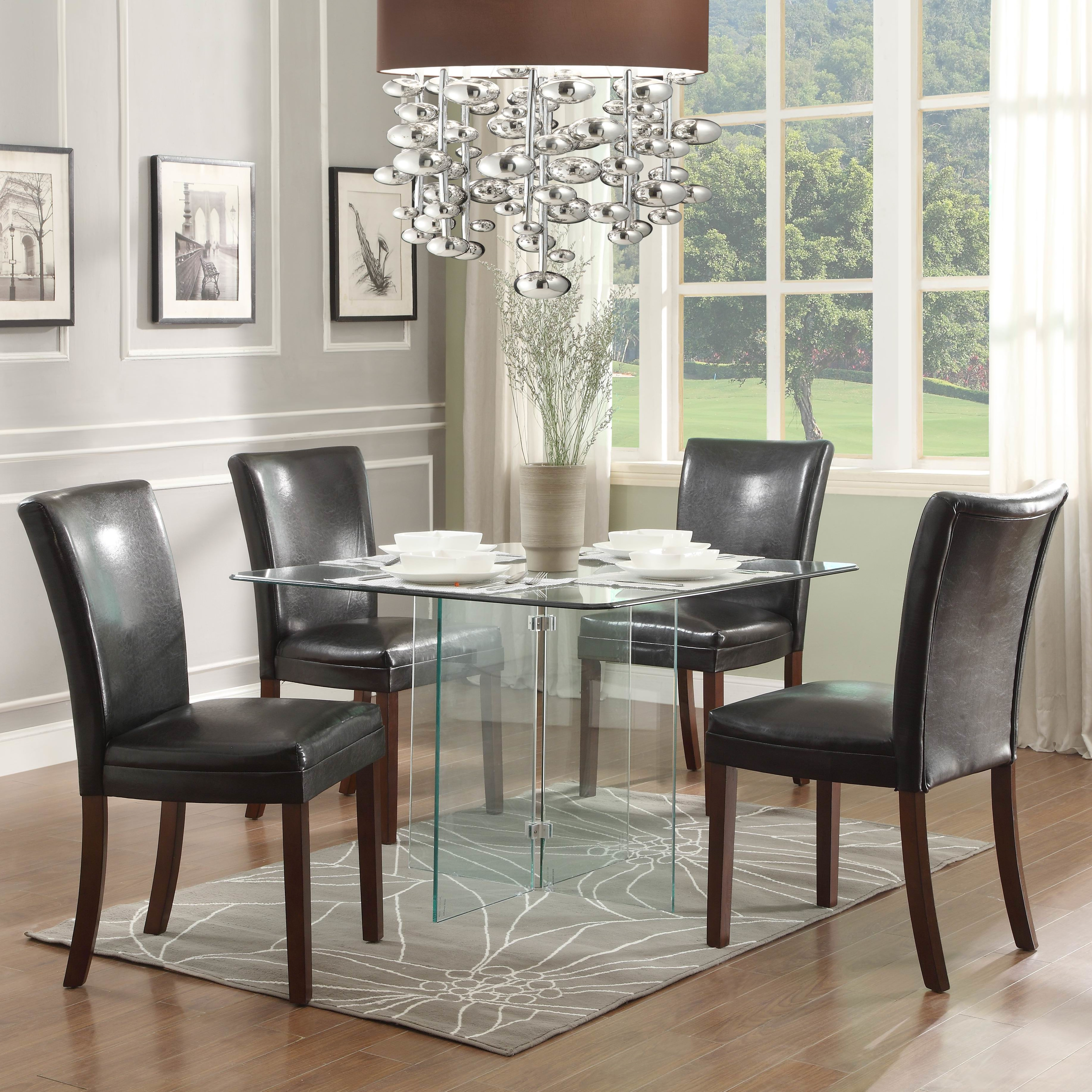 Permalink to Square Glass Kitchen Table Sets