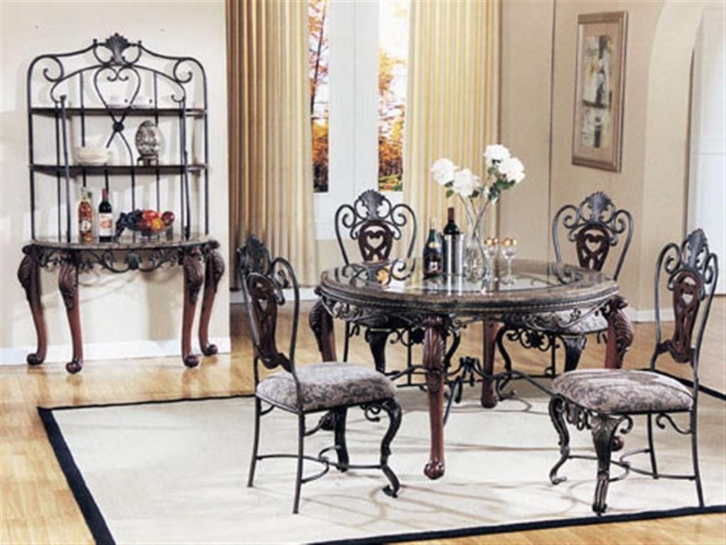 Permalink to Wrought Iron Dinette Sets Kitchen
