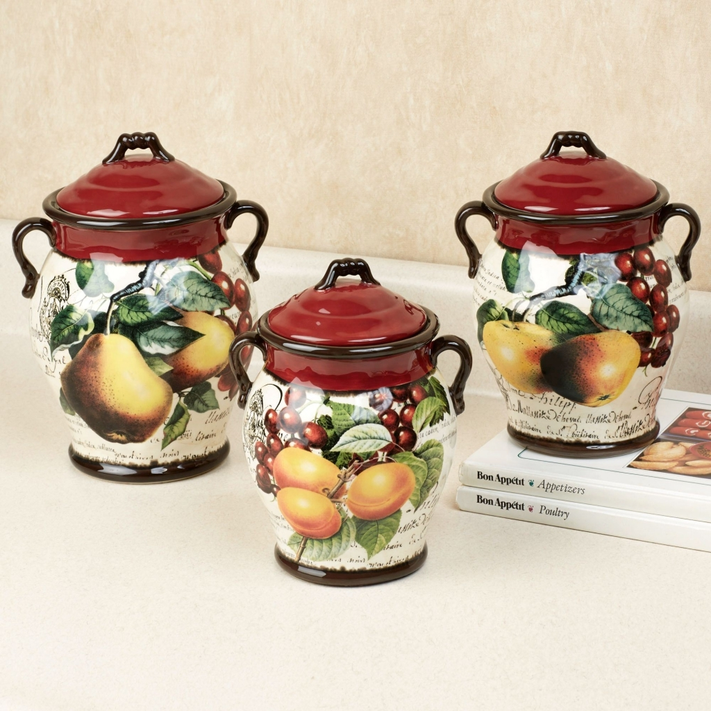 Apple Kitchen Decor Canisters