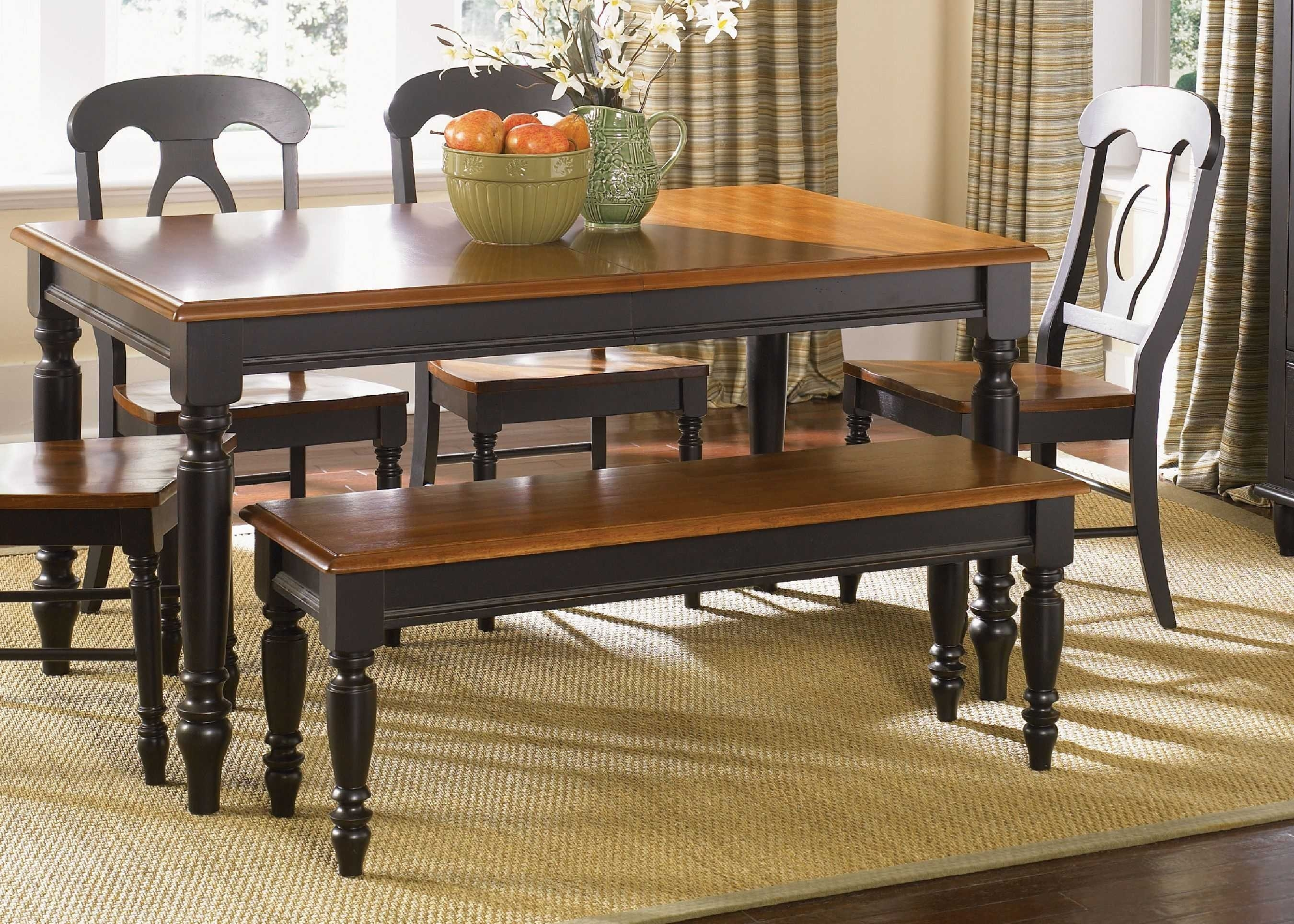 Black And Brown Kitchen Table Sets