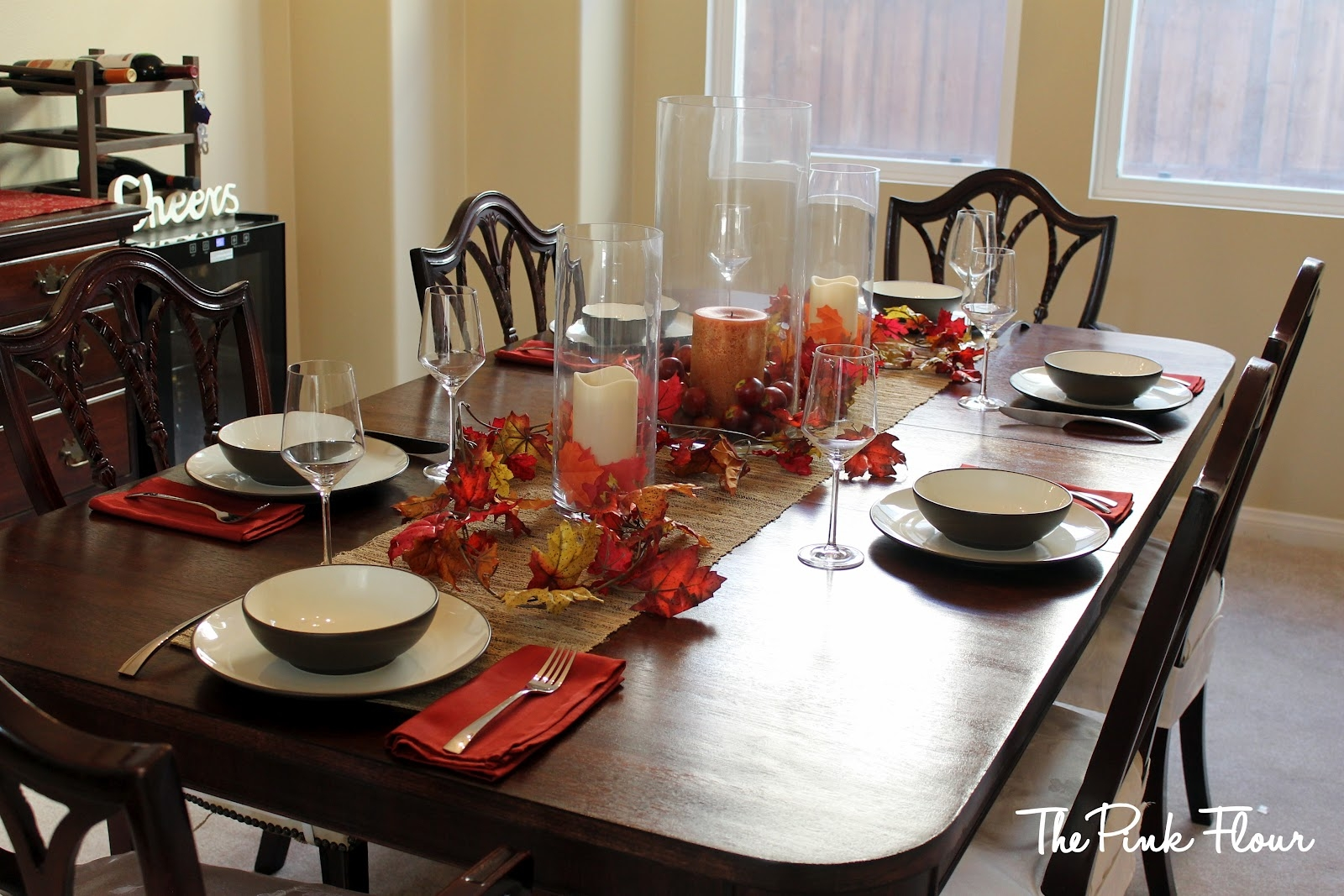 Fall Decorating Kitchen Table
