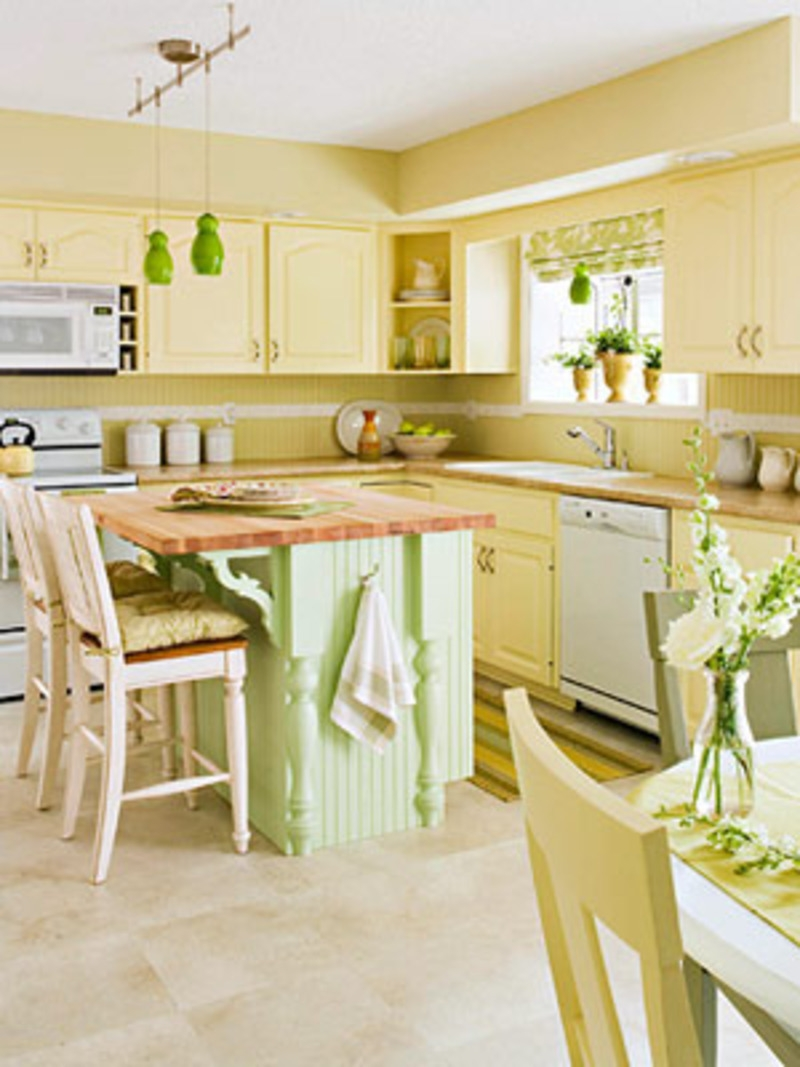 Permalink to Green Yellow Kitchen Decorating Ideas