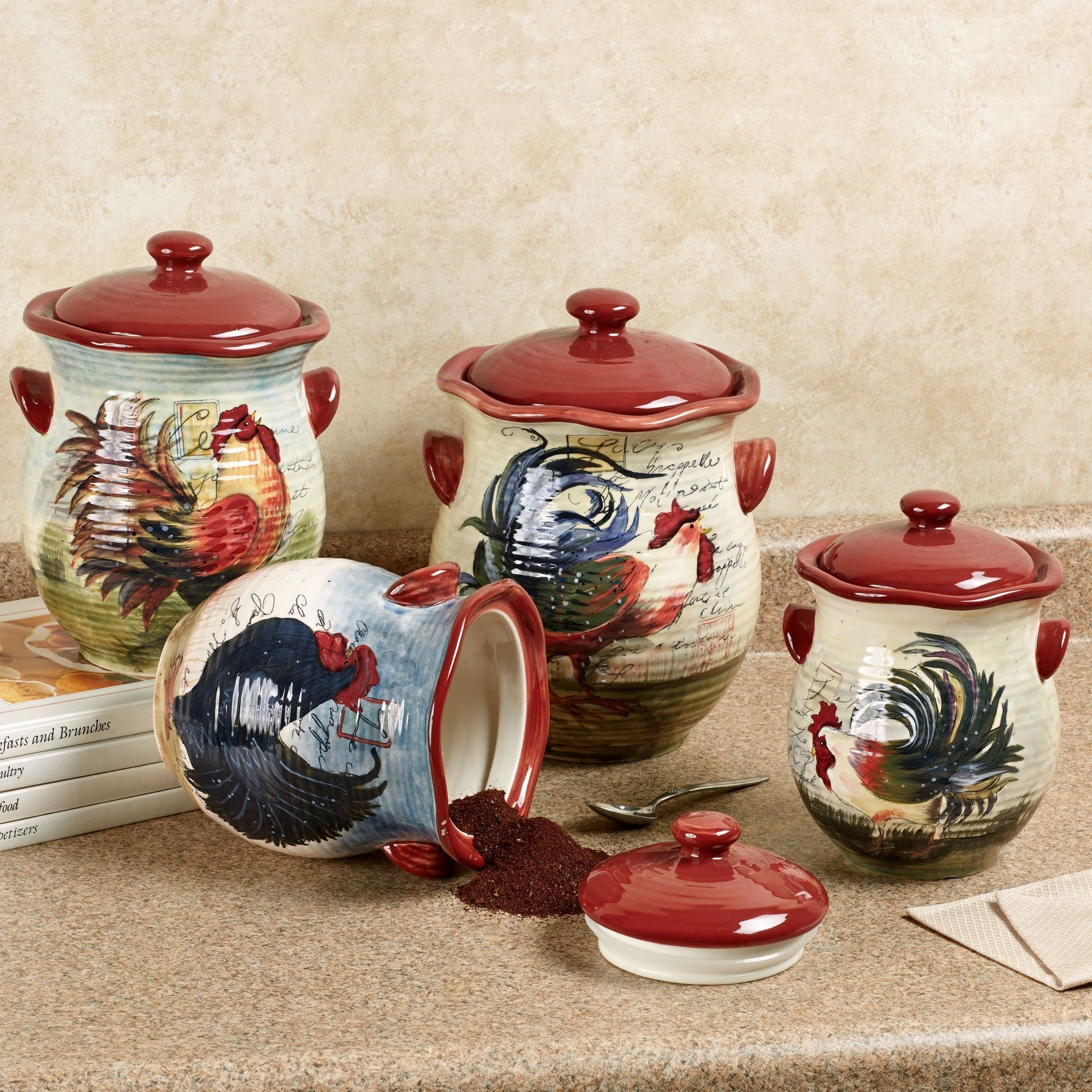 Hen And Rooster Kitchen Set