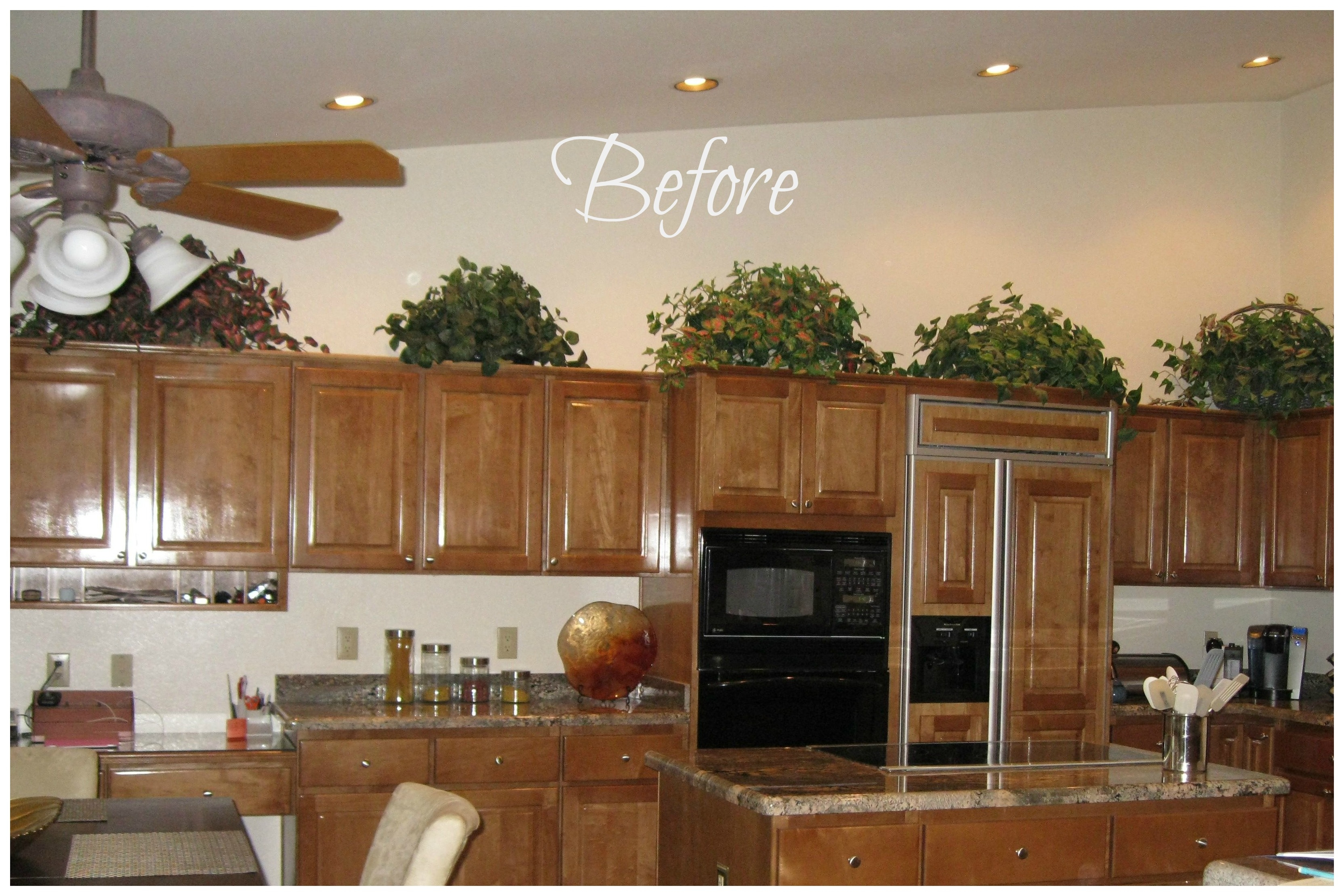 Home Decor Above Kitchen Cabinets