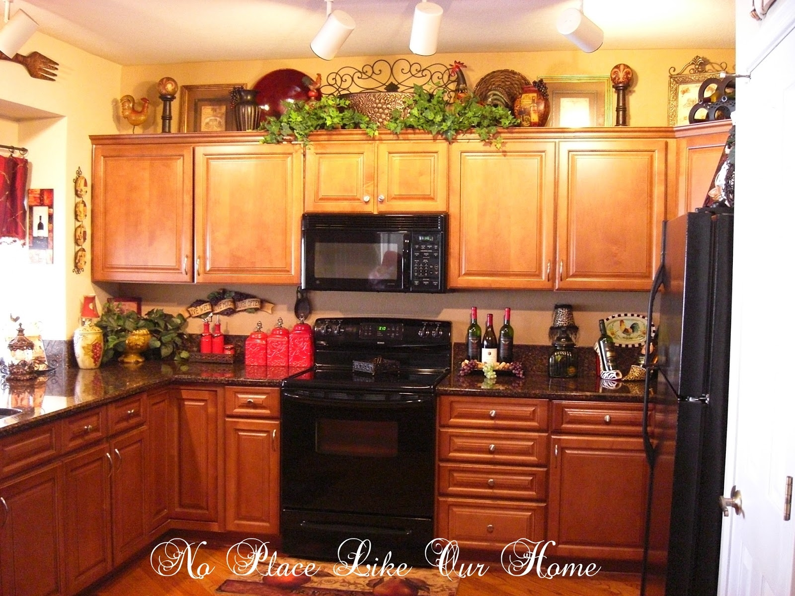 Home Decor For Top Of Kitchen Cabinets