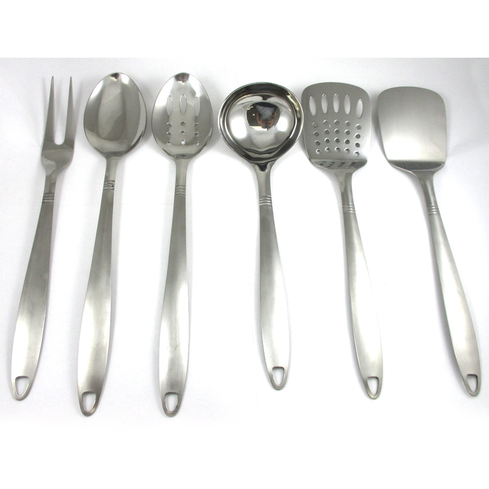 Kitchen Utensil Sets Stainless Steel6 stainless steel kitchen cooking utensil set serving tools server