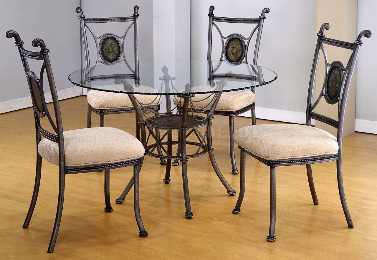 Round Glass Table Set For Kitchen