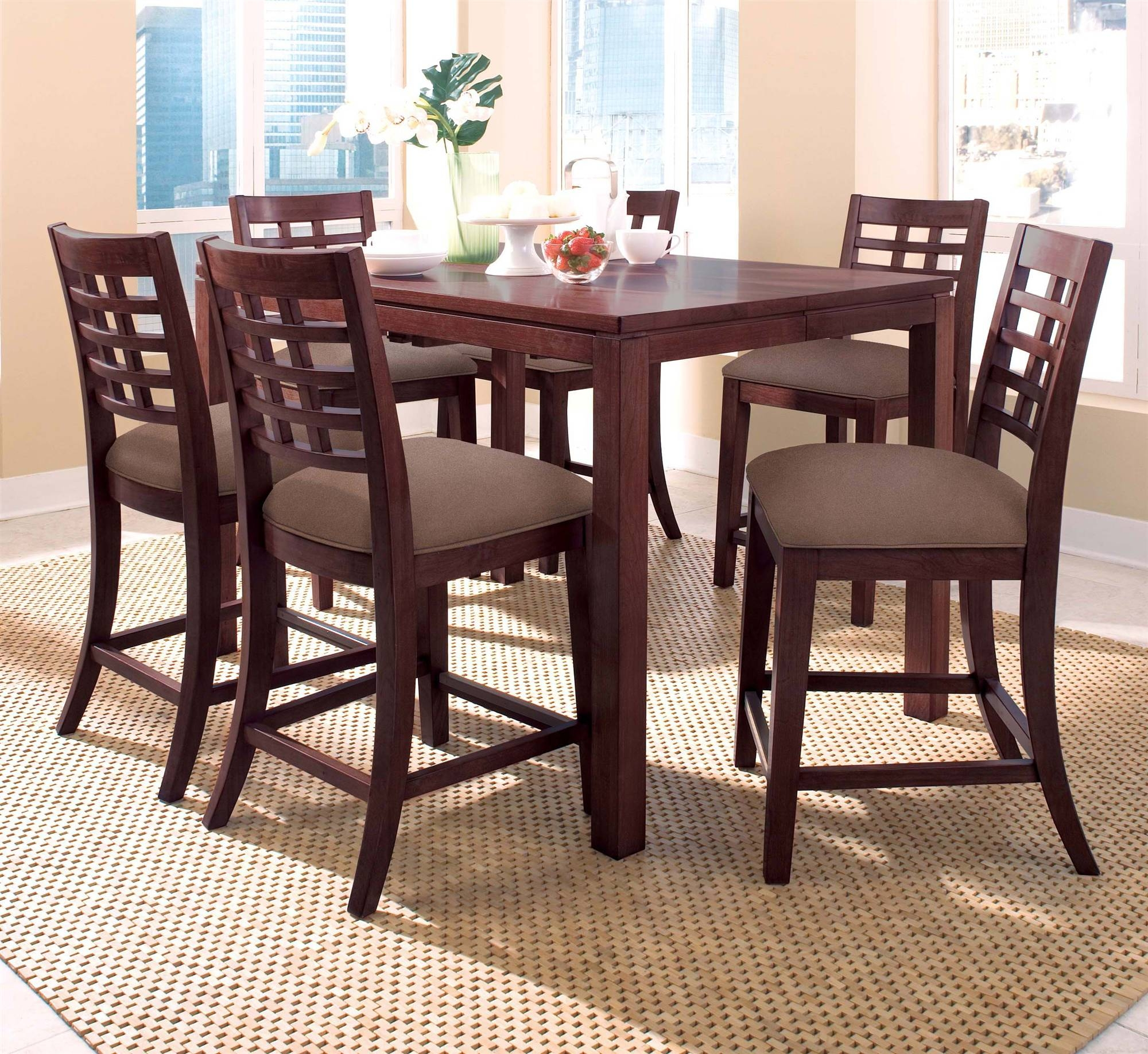 Tall Square Kitchen Table Set