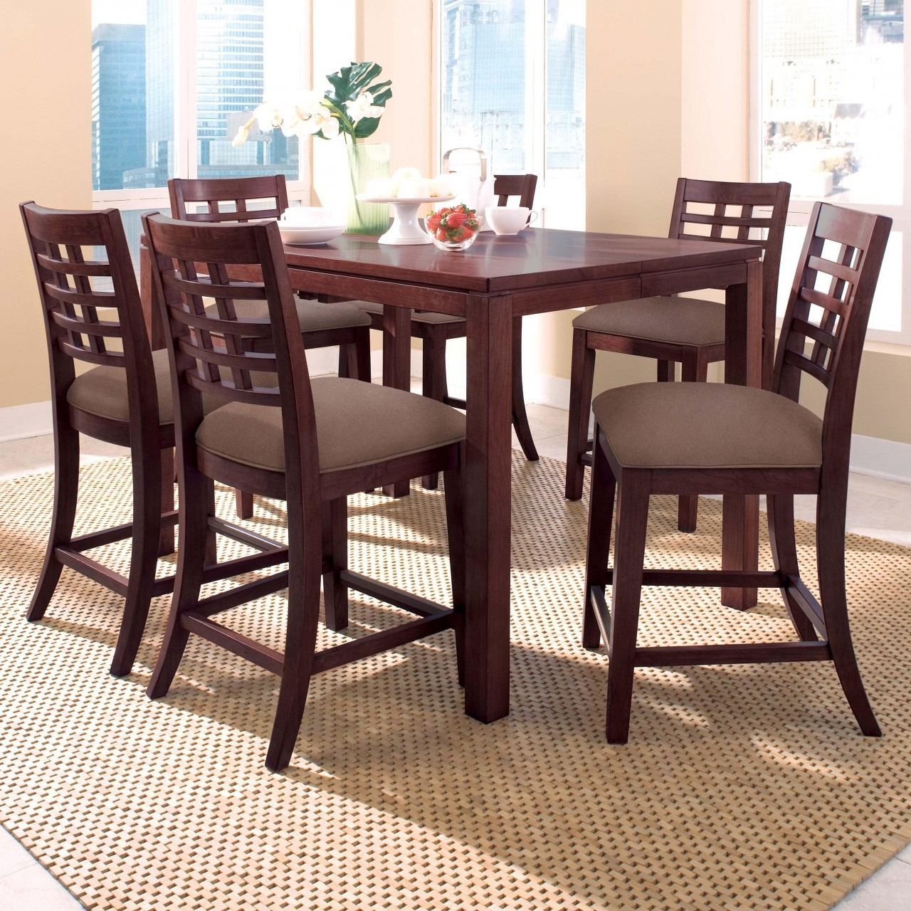 Tall Square Kitchen Table Sets