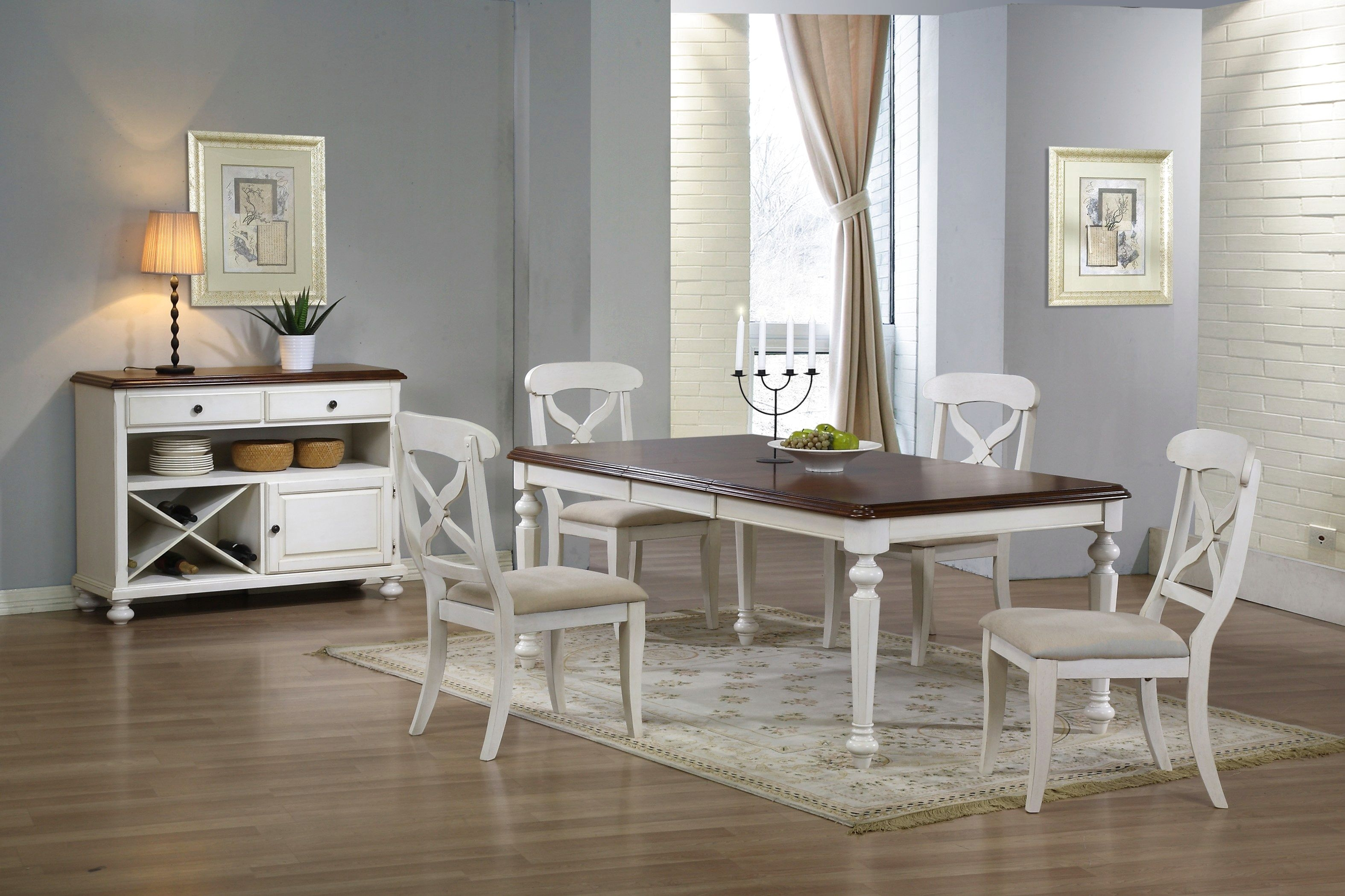 White And Brown Kitchen Table Sets