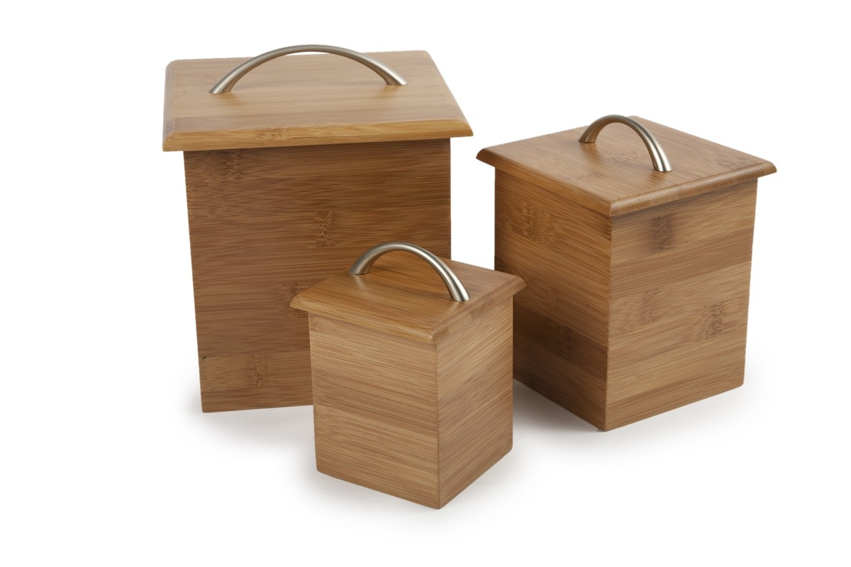 Bamboo Kitchen Canister Set