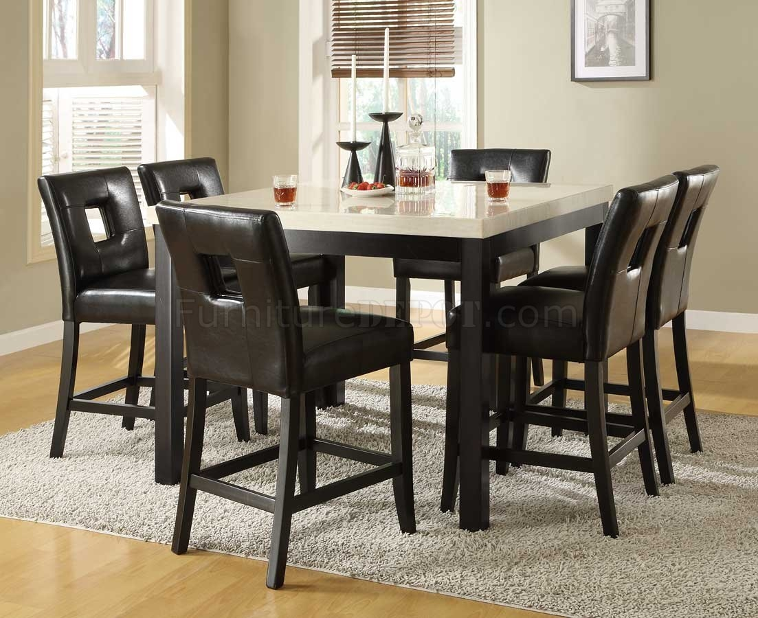 Black Counter Height Kitchen Table Set