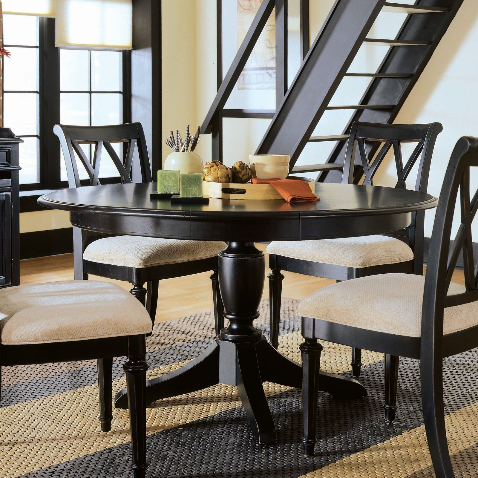Black Round Kitchen Table Set