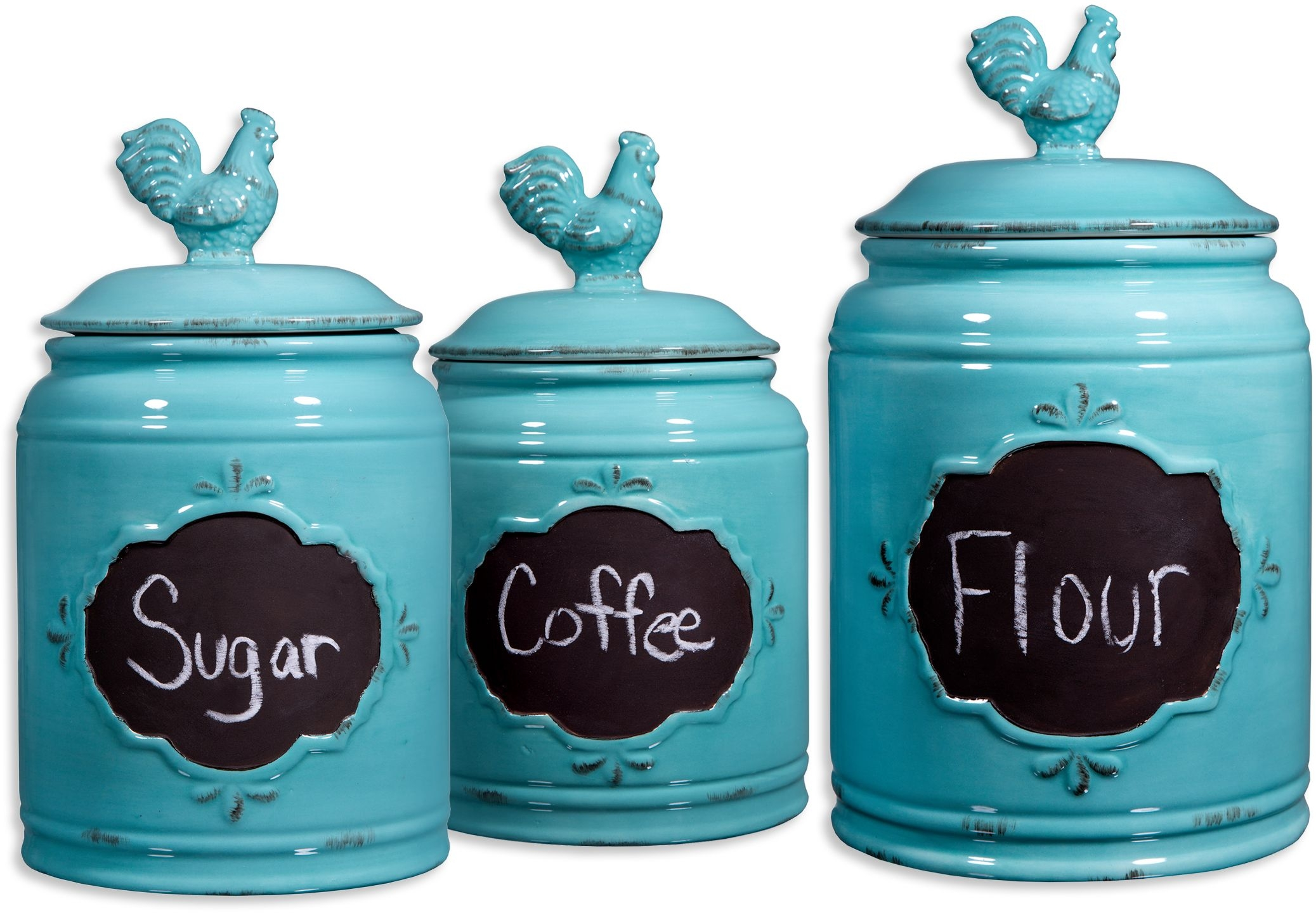 Blue And White Kitchen Canister Sets