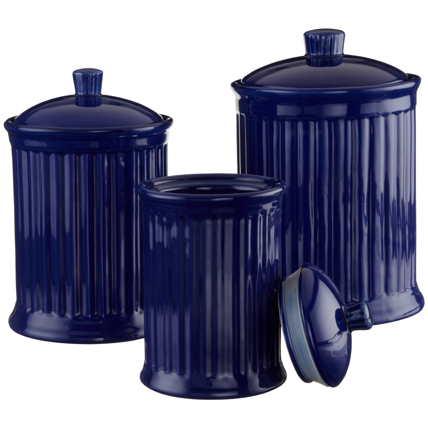 Permalink to Cobalt Blue Kitchen Canister Set