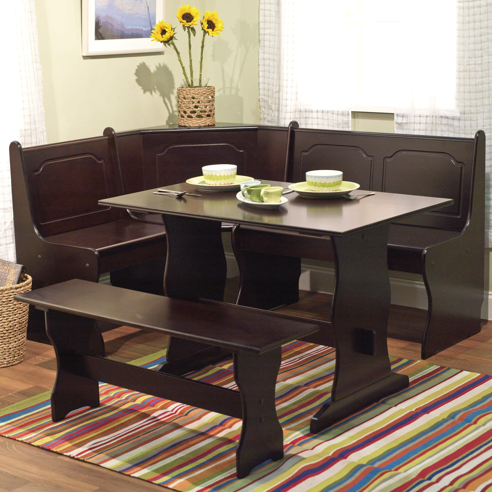 Corner Kitchen Table And Bench Set