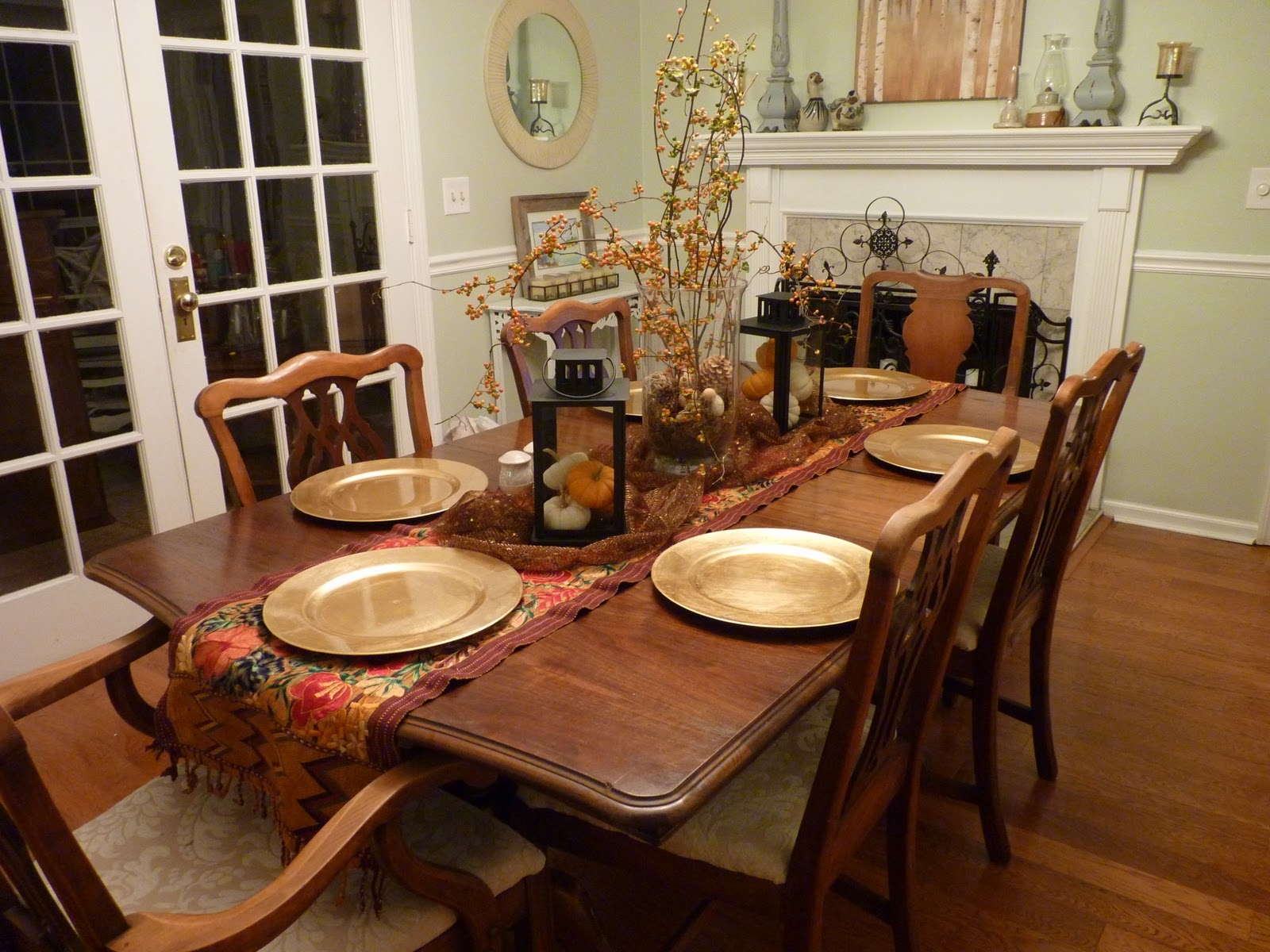 Country Kitchen Table Decorating Ideas