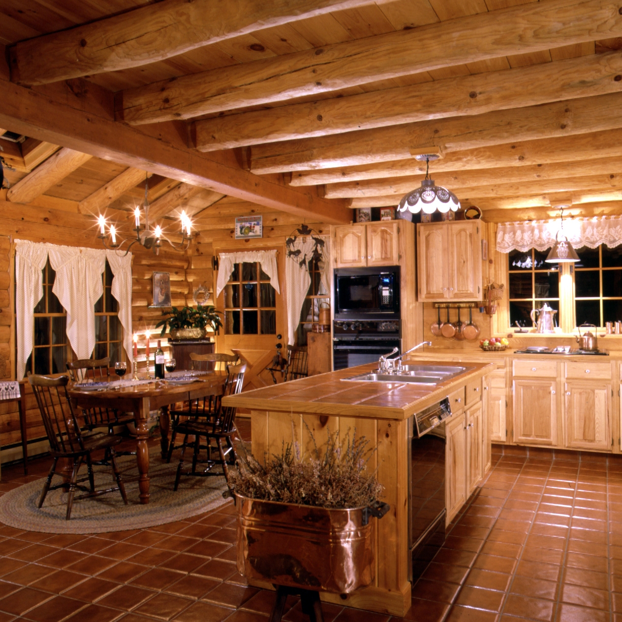 Country Lodge Kitchen Decor