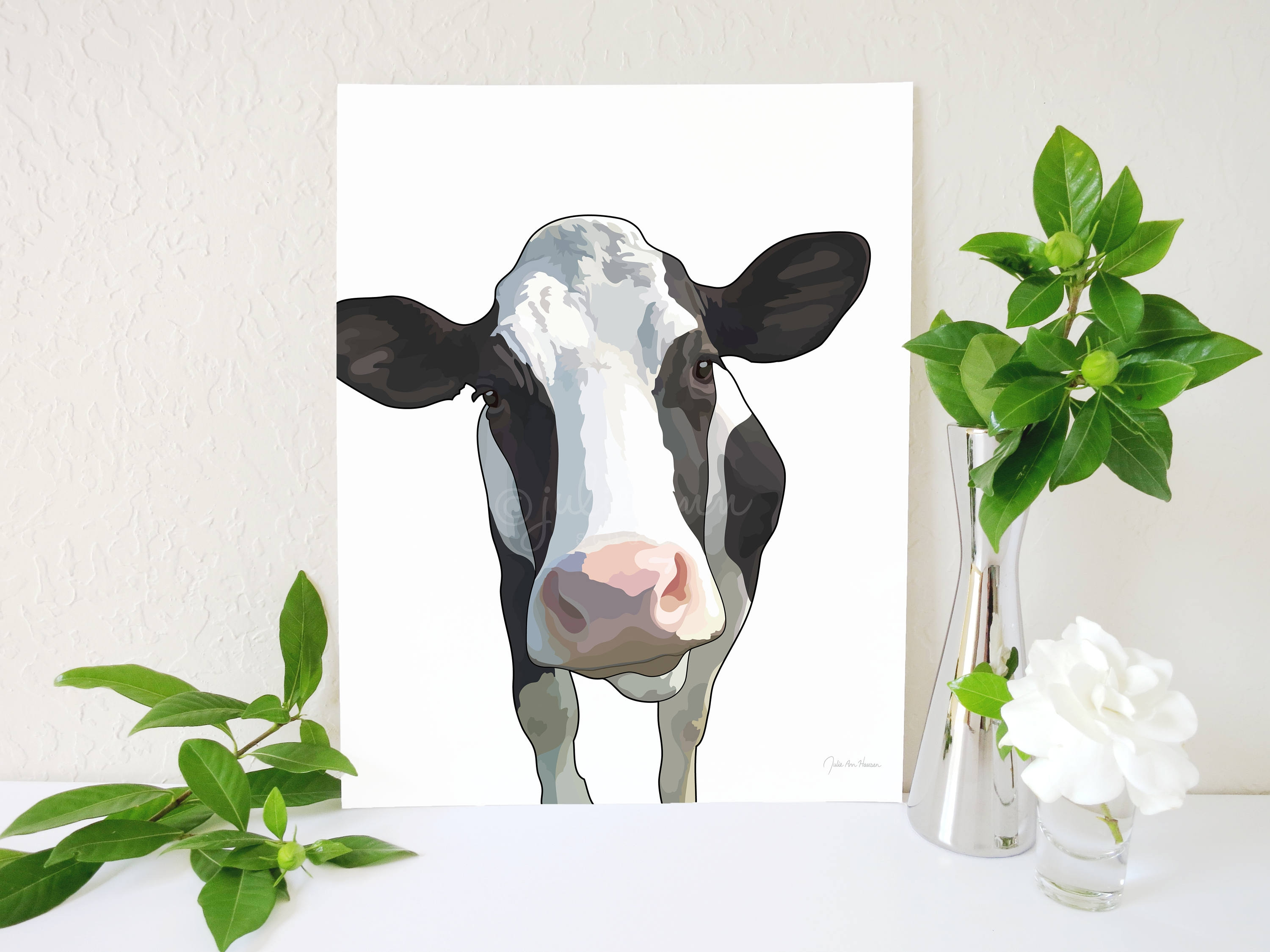 Cow And Sunflower Kitchen Decor