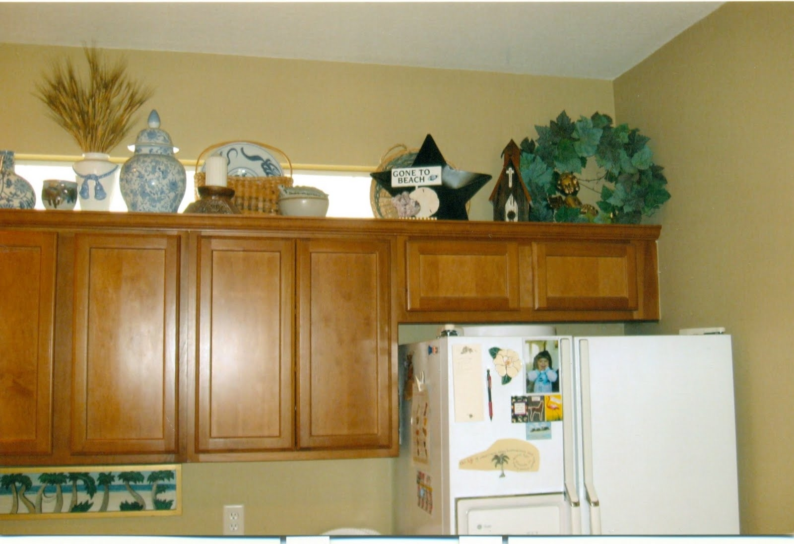 Decorating Above My Kitchen Cabinets