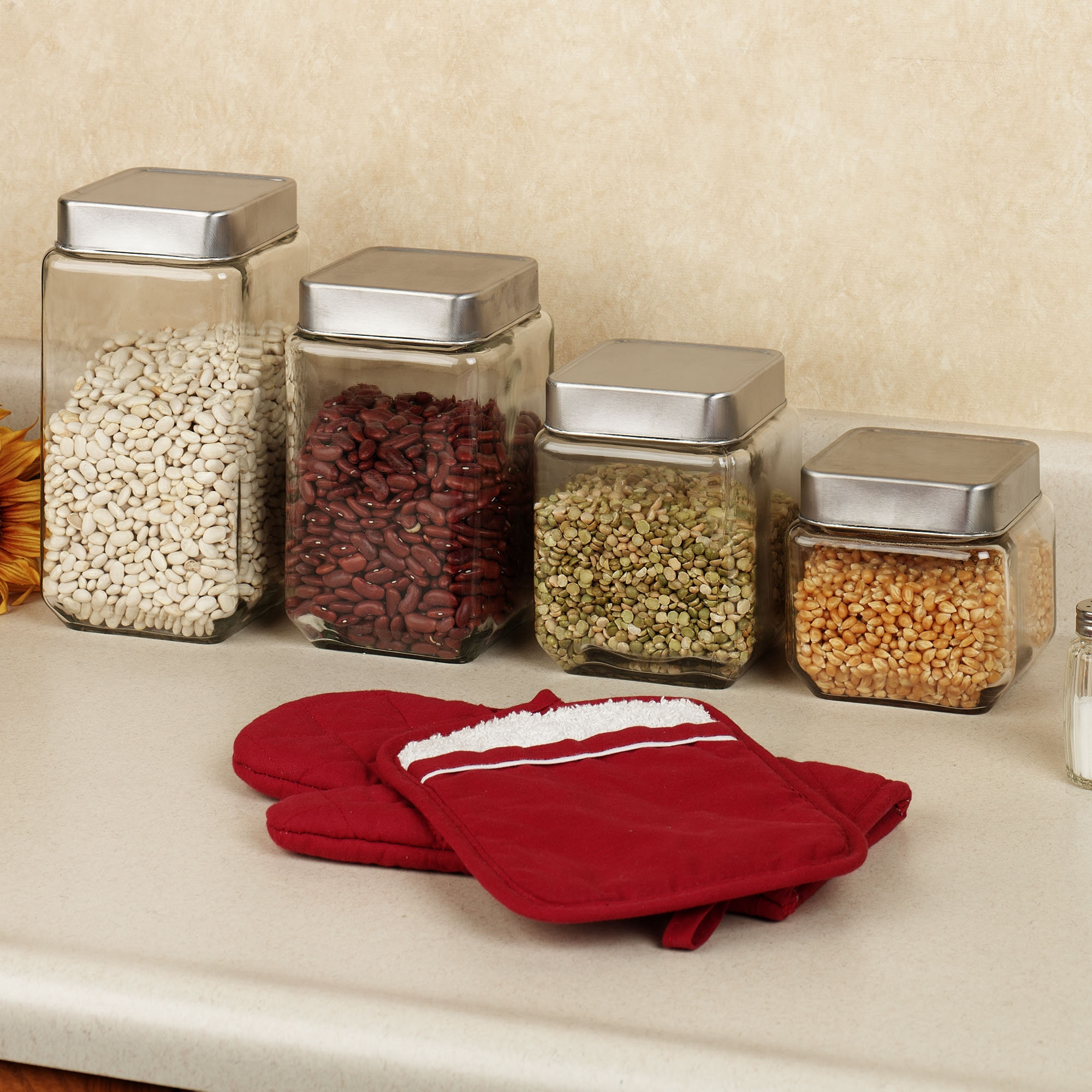 Decorative Glass Kitchen Canisters