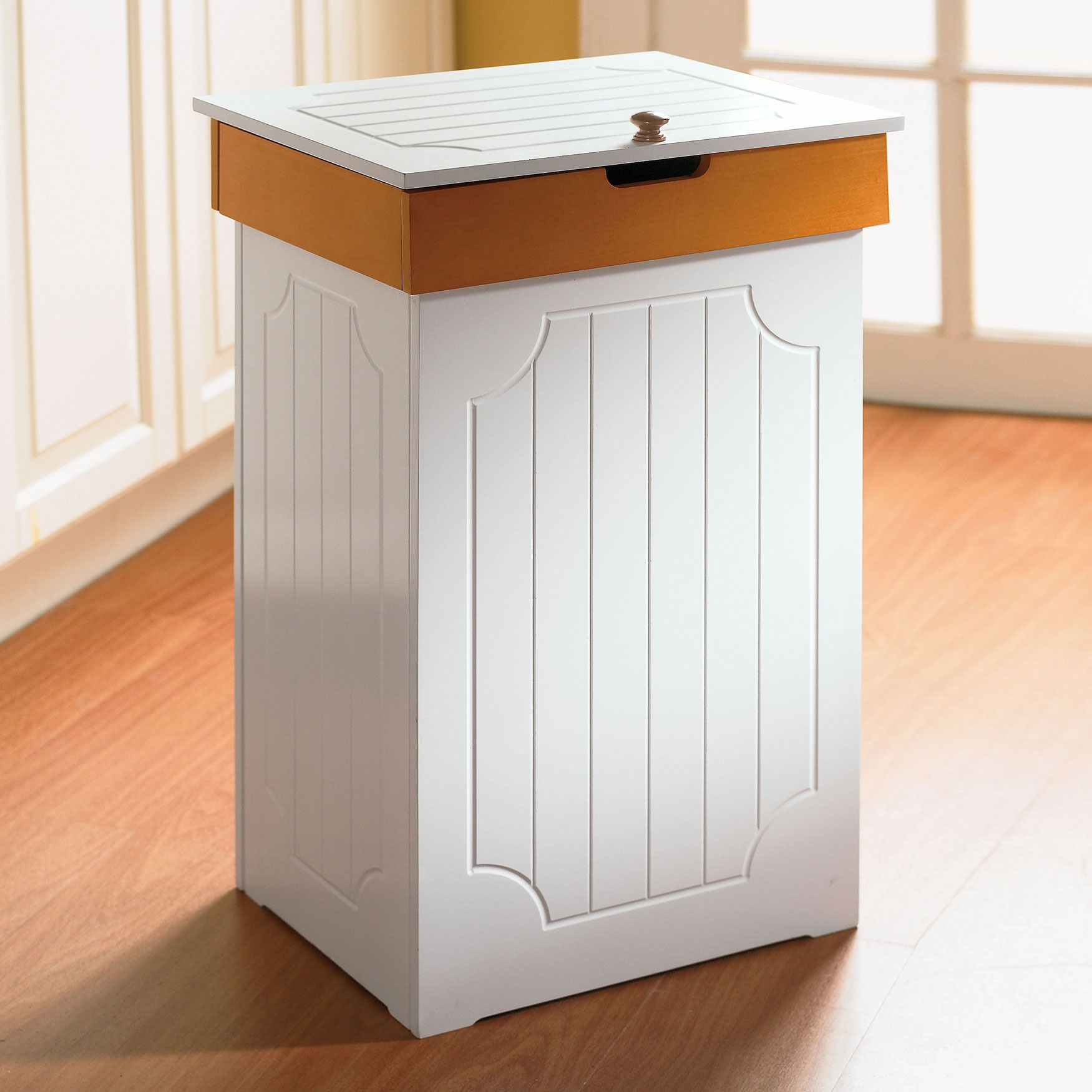Decorative Wooden Kitchen Trash Containers