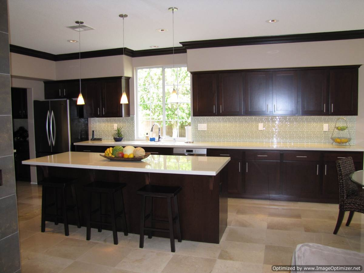 Espresso Cabinets Kitchen Decor