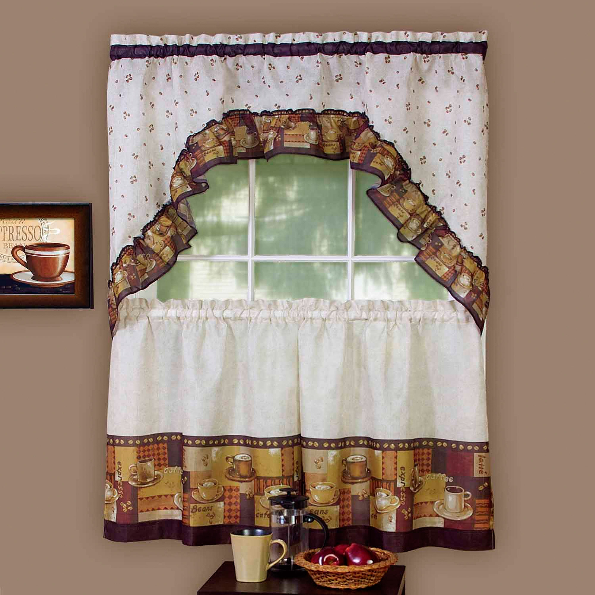 Permalink to Fleetwood Kitchen Tier And Valance Set