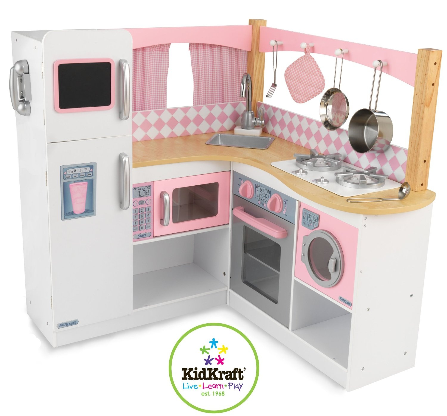 Permalink to Kidkraft Grand Gourmet Corner Wooden Kitchen Playset