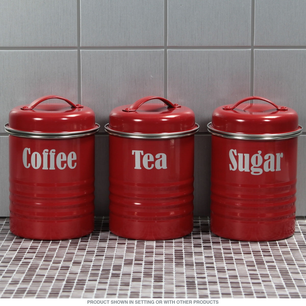 Permalink to Kitchen Canister Set Red