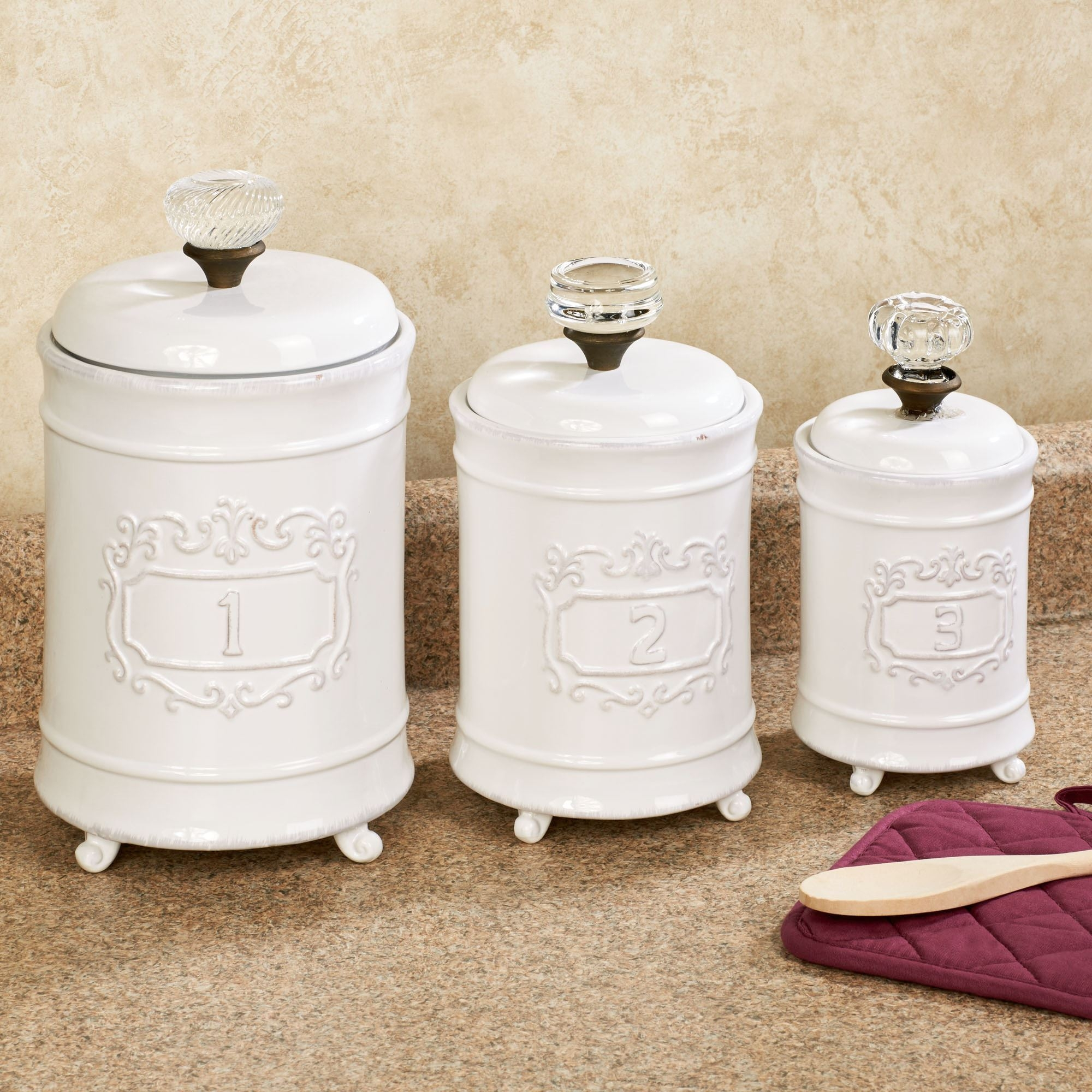 Permalink to Kitchen Canister Set White