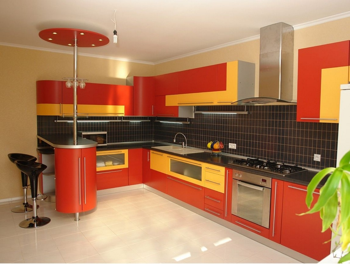 Kitchen Decor Red And Yellow