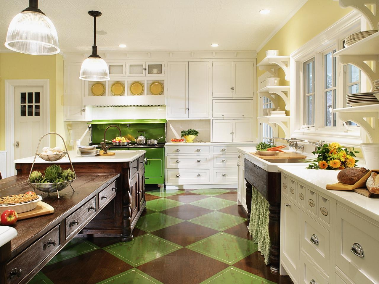 Kitchen Decor Yellow And Green