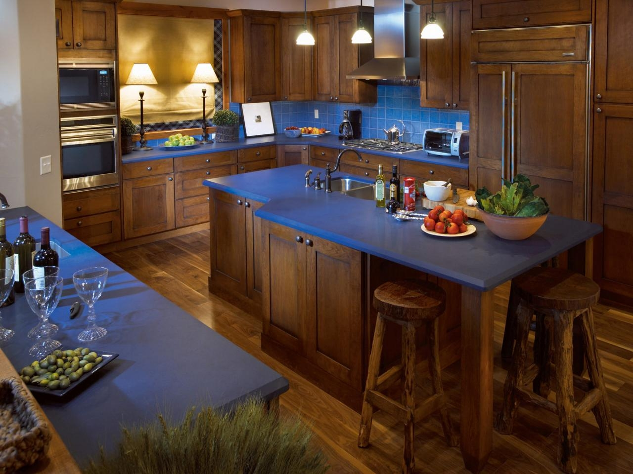Kitchen Decorating Ideas With Blue Countertops