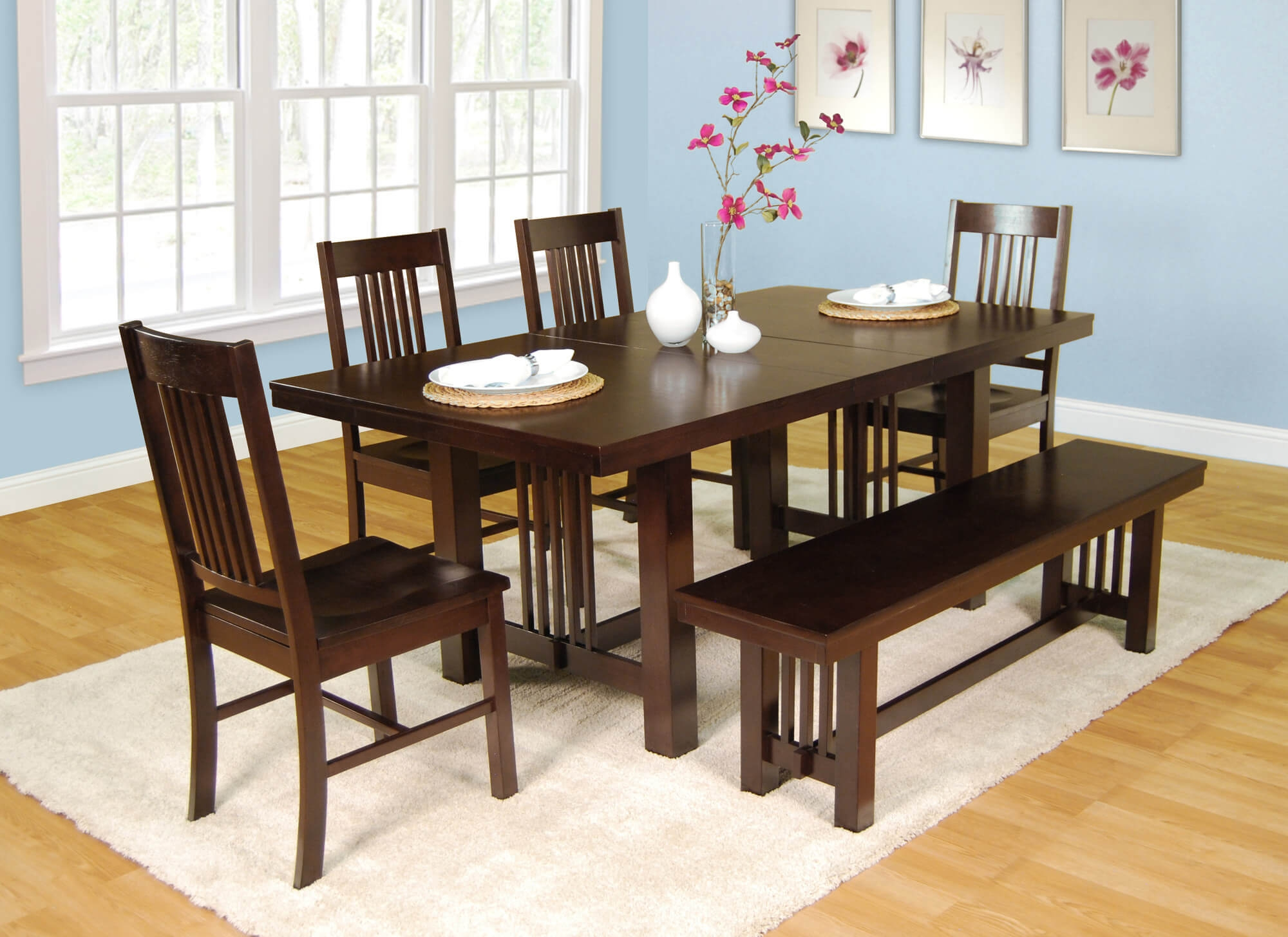 Kitchen Dinette Set With Bench