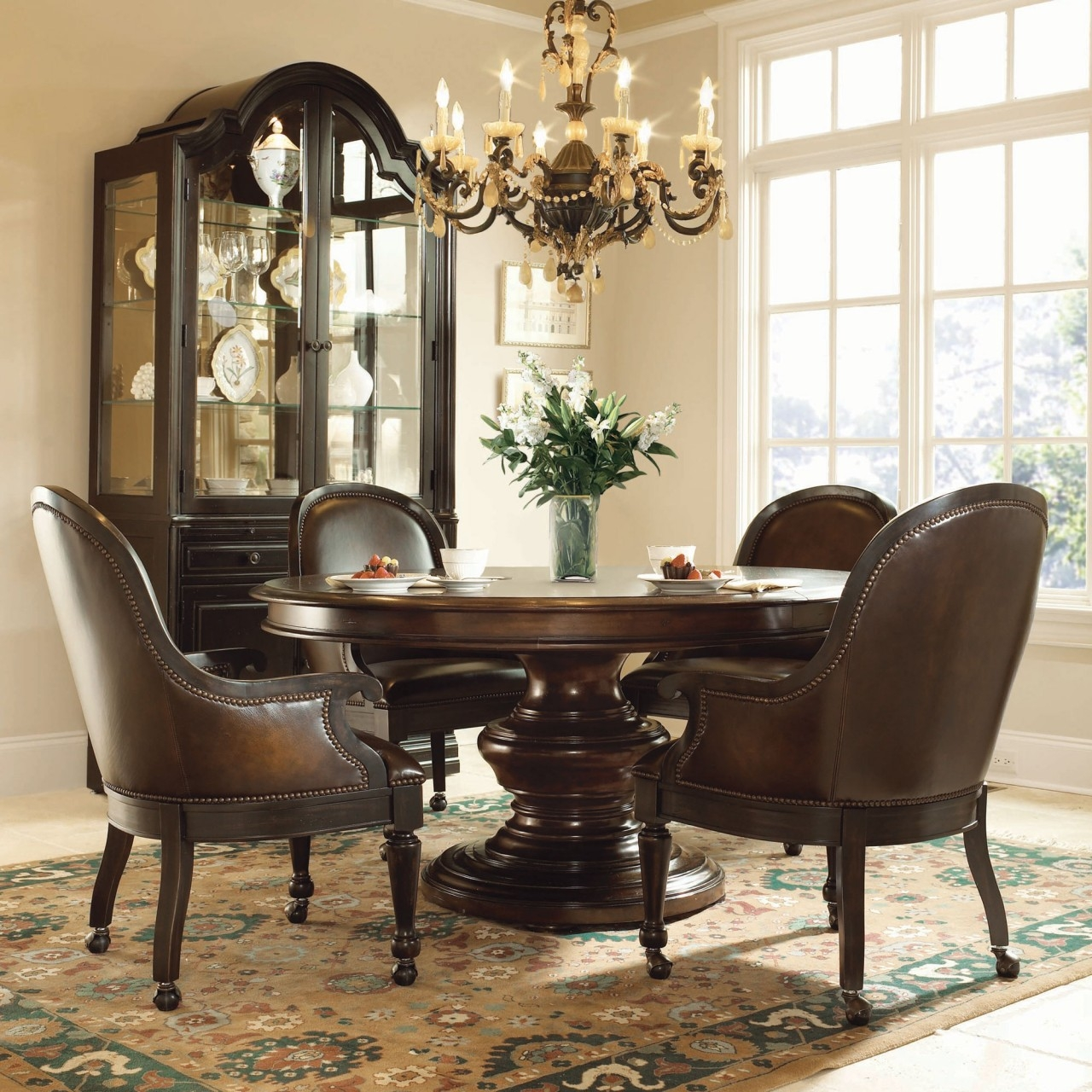 Kitchen Dining Sets Rolling Chairs